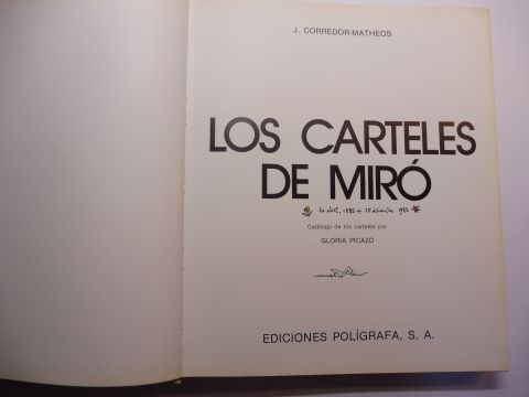 corredor matheos j und gloria picazo los carteles de miro werkverzeichnis
