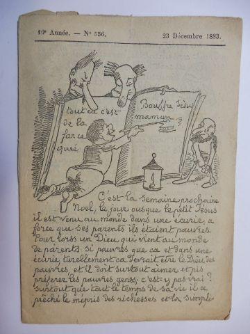 Albert Humbert, Pierre-Francois ou: La Lanterne de Boquillon. 16e Annee - N° 556. 23 Decembre 1883 (Numero de Noel 1883) *.
