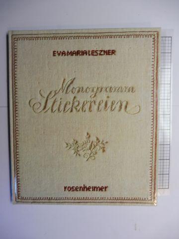 Leszner Eva Maria Monogramm Stickerei Monogrammstickerei