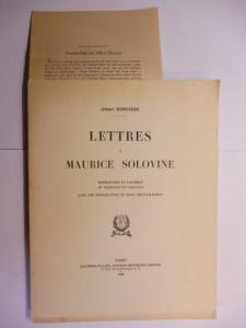 Einstein, Albert und M. Maurice Solovine: LETTRES A MAURICE SOLOVINE *. Reproduites en Facsimile et traduites en Francais avec une introduction et trois photographies.