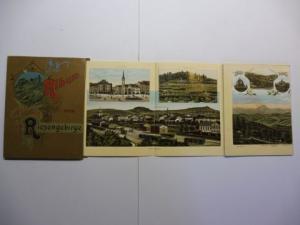 Glaser (Verlag), Louis: Album vom Riesengebirge. (Leporello mit 65 farb. Ansichten).