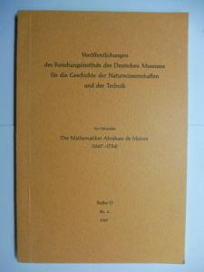 "Schneider, Ivo und J.E. Hofmann (vorgelegt): Der Mathematiker Abraham de Moivre (1664-1754) *. Offprint (Sonderdruck from ""Archive for History of Exact Sciences"" Volume 5, Number 3/4, 1968. P. 177-317)."