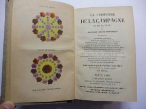 Audot (Verlag), Librairie: LA CUISINIERE DE LA CAMPAGNE ET DE LA VILLE ou NOUVELLE CUISINE ECONOMIQUE...*. 400 Figures.