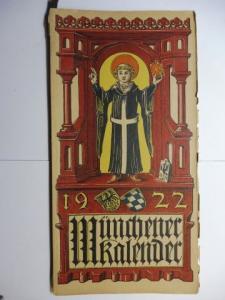 Manz (Verlag), G. J., Otto Hupp (Wappenillustr.) Otto Hupp (Illustr.) u. a.: Münchner Kalender 1922 *.