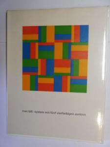 Bill *, Max und Frank Larese / Jürg Janett: max bill: system mit fünf vierfarbigen zentren. + AUTOGRAPH *. anleitung zum betrachten eines bildes.