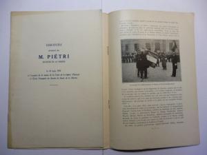 Pietri *, Francois: DISCOURS prononce par M. Pietri * MINISTRE DE LA MARINE le 10 mars 1935 a l`occasion de la remise de la croix de la legion d`honneur a l`Ecole Principale du Service de Sante de la Marine.