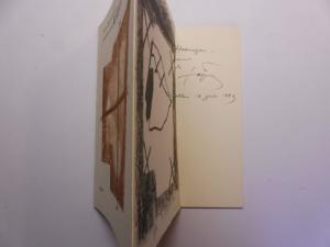 Tapies *, Antoni und Werner Schmalenbach (Autor): Drei Reden über Antoni Tapies. + AUTOGRAPH *. (Die beiden Lithografien auf dem Umschlag sind Original-Lithografien).