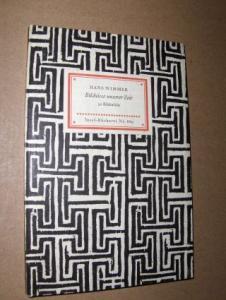 Wimmer (Geleitwort), Hans: HANS WIMMER - Bildnisse unserer Zeit. Insel-Bücherei Nr. 669.