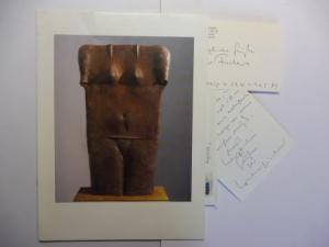 Fischer *, Lothar, Stephen Haller Gallery David Hornung (Foreword) a. o.: LOTHAR FISCHER - STEPHEN HALLER FINE ART NEW YORK 1989. + 2 AUTOGRAPHEN (dav. Brief) *. (Ausstellung in der Galerie).