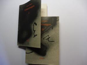 Tapies *, Antoni, Angelika u. Matthias Bärmann (Deutsch) und Larese /Janett: Antoni Tapies * - Erinnerungen I - II. 2 Bände. + AUTOGRAPH *.