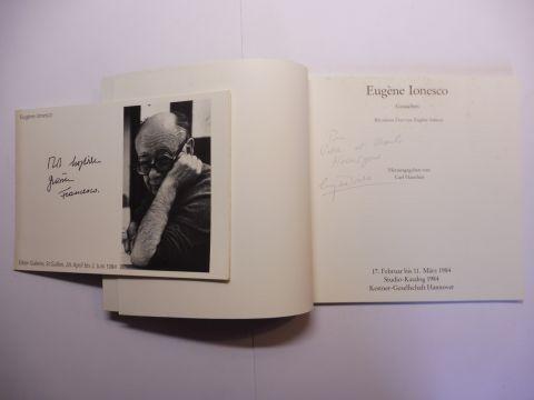 Ionesco *, Eugene, Carl Haenlein (Hrsg.) Franz Larese u. a.: Eugene Ionesco. Gouachen. + AUTOGRAPH *. Ausstellung Februar-März 1984 in der Kestner-Gesellschaft Hannover (Studio-Katalog 1984). 0