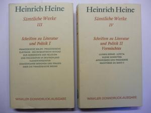 Heine, Heinrich, Jost Perfahl und Werner Vordtriede / Uwe Schweikert: H. Heine - Schriften zu Literatur und Politik I + II (u. Vermischtes). 2 Bände *. (siehe Foto).