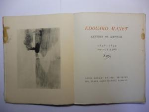Manet *, Edouard: EDOUARD MANET - LETTRES DE JEUNESSE 1848-1849 VOYAGE A RIO.