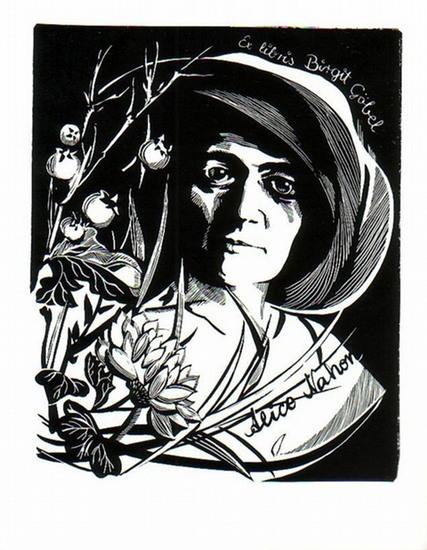 Hörvath, Hermina: Ex Libris von Birgit Göbel. Alice Nahorn (1896-1933).