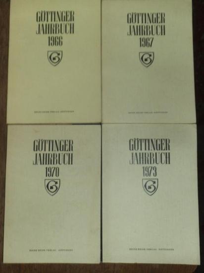 Göttingen. - Dr. Walter Nissen (Red.): Göttinger Jahrbuch. Konvolut mit 4 Bänden: 14. Folge 1966, 15. Folge 1967, 18. Folge 1970 und 21. Folge 1973.