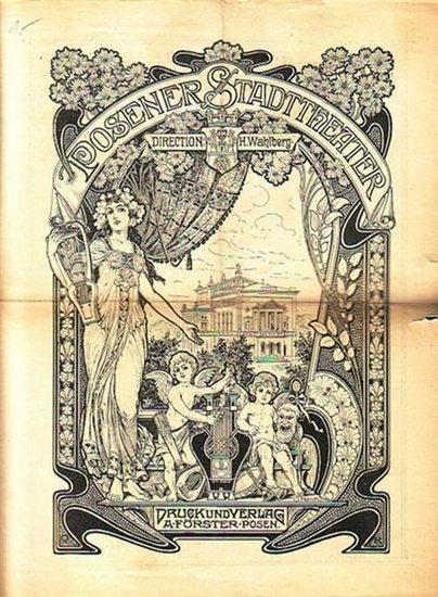 Grillparzer, Franz: Programmzettel zu: Die Ahnfrau. Trauerspiel in 5 Aufzügen. Regie: Konrad Jacobs. Mit Besetzungsliste. Aufführung am 27. September 1900 im Posener Stadttheater.