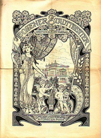 Ibsen, Henrik: Programmzettel zu: Die Frau am Meer. Schauspiel in 5 Aufzügen. Regie: Konrad Jacobs. Mit Besetzungsliste. Aufführung am 25. Oktober 1900 im Posener Stadttheater.