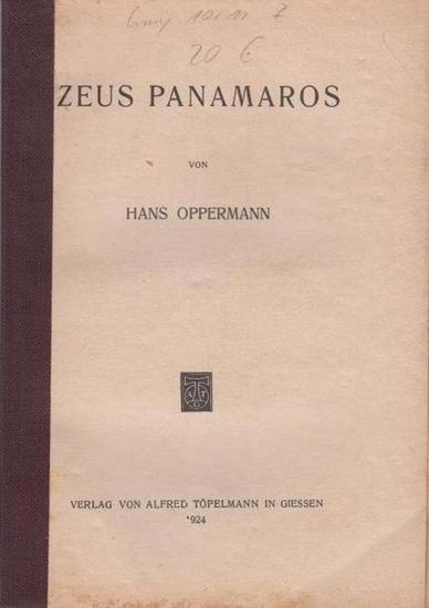 Oppermann, Hans: Zeus Panamaros.