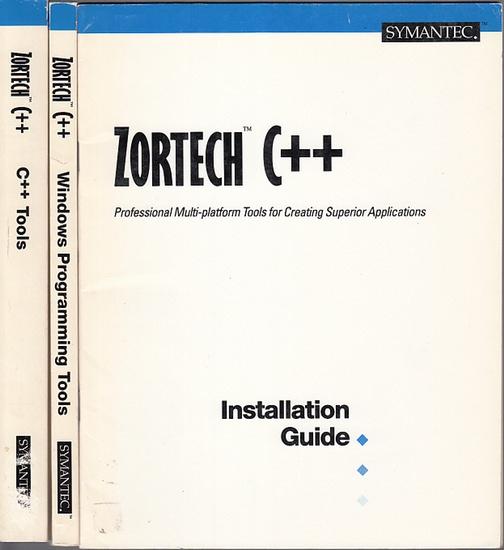 Symantec - Zortech C++ Compiler V3.0 : C++ Tools, Windows Programming Tools, Numerics Programming Guide, Installation Guide. 4 items / Teile.