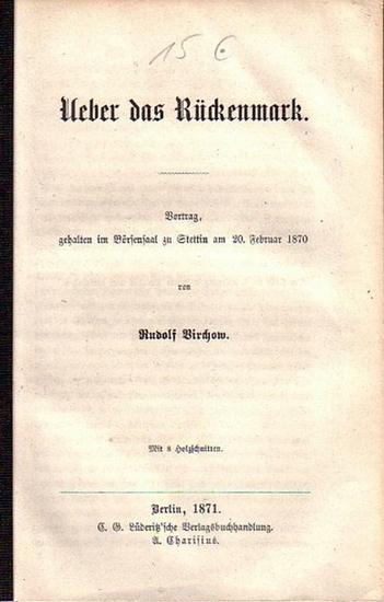 Virchow, Rudolf: Ueber das Rückenmark. Vortrag, gehalten im Börsensaal zu Stettin am 20. Februar 1870.