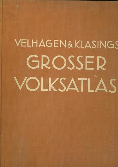 Velhagen - Frenzel, Konrad (Hrsg.): Velhagen & Klasings Grosser Volksatlas : Das Jubiläumswerk des Verlages zu seinem hundertjährigen Bestehen.