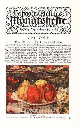 Velhagen & Klasing's Monatshefte - Velhagen & Klasing's Monatshefte. 39. Jahrgang 1924. Heft 1-6