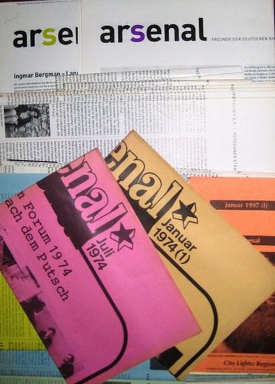 """Arsenal Kinoprogramme. - Kino """"Arsenal"""" (Hrsg.) : Konvolut mit 71 Exemplaren Programme """"Arsenal"""" Kino der Freunde der Deutschen Kinemathek: Jahrgang 1974: Jan., Juli, Dez. / 1975: Feb., Juni. // Jahrgang 1991: Juli, Sept. / 1992: Juli,"""