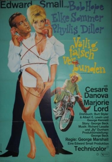 """Filmplakat: Völlig falsch verbunden- Boy, did i get a wrong number"""". Edward Small zeigt Bob Hope, Elke Sommer und Phyllis Diller in… Regie: George Marshall-United Artists."""
