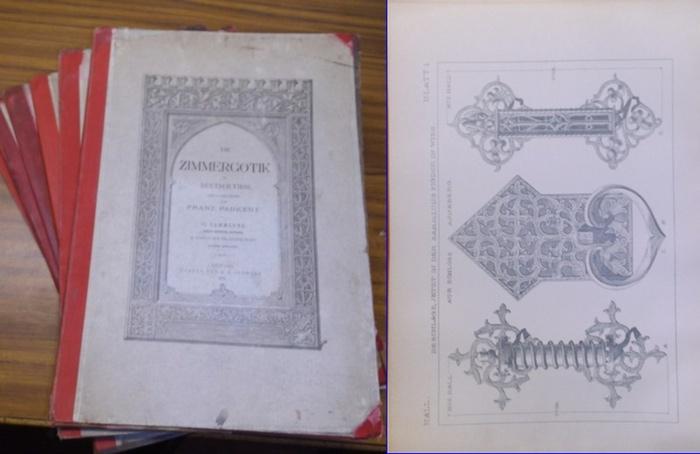 Paukert, Franz (Hrsg.): Die Zimmergotik in Deutsch-Tirol. I.-VI. Sammlung [von IX erschienenen] mit jeweils 32 Tafeln mit Erläuterungen - FÜNF TAFELN FEHLEN.