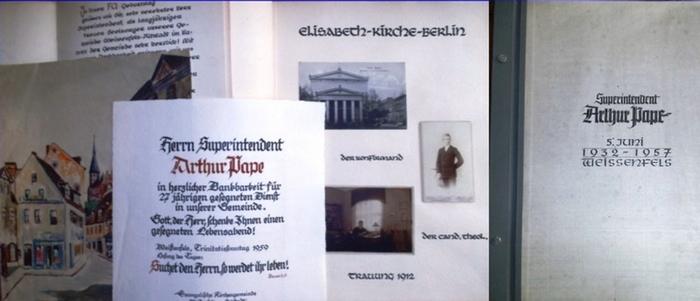 Pape, Arthur (Pfarrer und Superintendent). - Superintendent Arthur Pape 5. Juni. Festgabe zum 25jährigen Wirken 1932-1957 im Kirchenkreis Weißenfels.