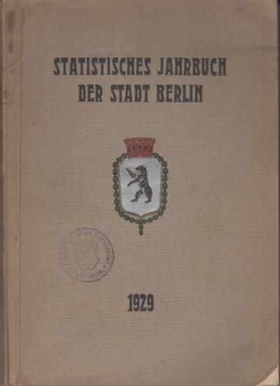 Büchner, Otto: Statistisches Jahrbuch der Stadt Berlin. 5. Jahrgang 1929. Herausgegeben vom Statistischen Amt der Stadt Berlin. Mit Vorwort von Otto Büchner. 0