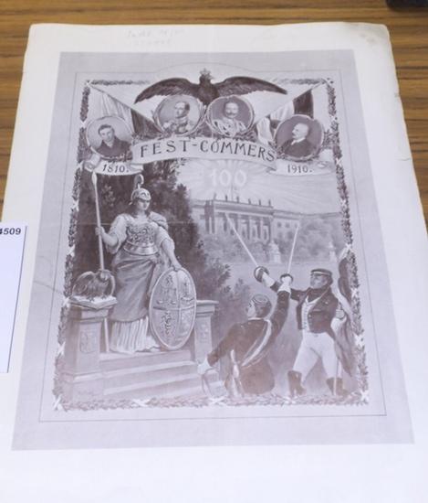 Berlin Friedrich Wilhelm Universität. - Festkommers zur Feier des 100jährigen Jubiläums der Berliner Friedrich-Wilhelm-Universität in den Ausstellungshallen am Zoologischen Garten am 12. Oktober 1910. 0
