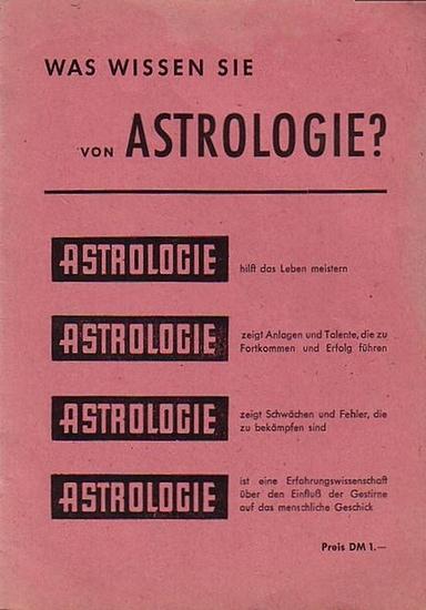Mengel, Margret: Astrologie. Erkenne dich selbst. Was wissen sie von Astrologie? Heft 1. 0