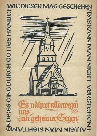Berlin-Spandau. - Jahresbericht 1948/49 des evangelischen Johannesstifts Berlin-Spandau. Es nähret allerwegen uns ein geheimer Segen. 0