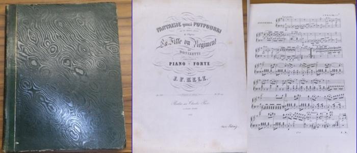 Donizetti, Gaetano. - Kelz, J.F. - Beethoven, Ludwig van. - u.a.: Sammelband verschiedene Stücke für Piano-Forte. 15 Stücke. 0