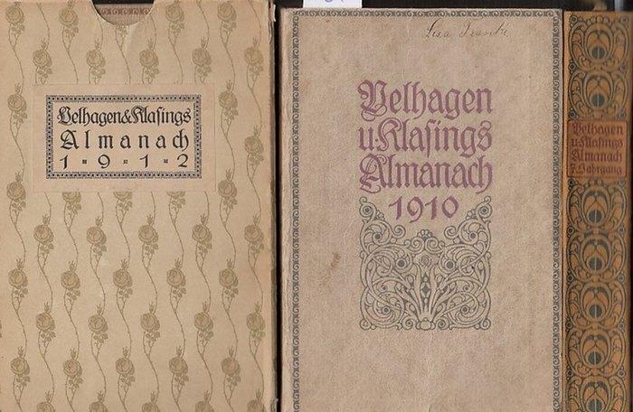 Velhagen/ Klasing. - Almanach Herausgegeben von der Radaktion von Velhagen und Klasings Monatsheften. Jahrgang 1910 / Jahrgang 1912 / Jahrgang 1915. Drei Bände der Reihe. 0