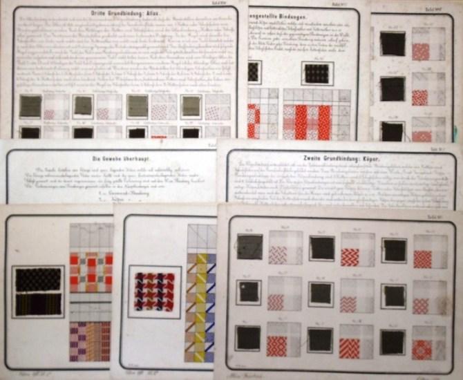 Friedrich, Albin / R.W. entw.: - Webtafel-Musterbilder. Sammlung mit 12 Tafeln. 0