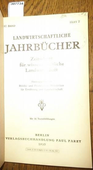 Landwirtschaftliche Jahrbücher. - Reichs- und Preußisches Ministerium für Ernährung und Landwirtschaft (Hrsg.). - Miller, M./ Prof. Gerlach / Geith, R./ Berkner, F./ Rehm, E. / Schmitt, L. / Kotschopoulos, Manthos / Mitscherlich, Alfred: Landwirtschaft... 0