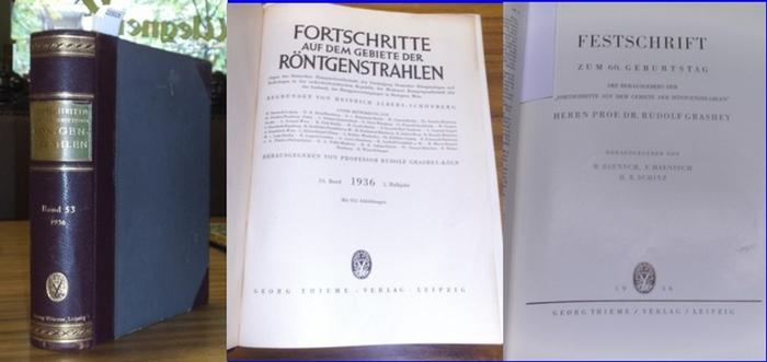 Fortschritte auf dem Gebiet der Röntgenstrahlung. - Heinrich Albers-Schönberg (Begr.), Rudolf Grashey-Köln ; Baensch, W. ; Haenisch, F. ; Schinz, H. R. (Hrsg.): Fortschritte auf dem Gebiet der Röntgenstrahlung. - 53. Band 1936 1. Halbjahr. Enthalten si... 0