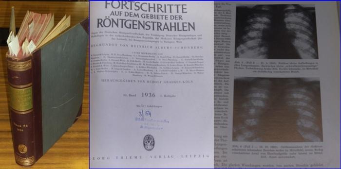 Fortschritte auf dem Gebiet der Röntgenstrahlung. - Heinrich Albers-Schönberg (Begr.), Rudolf Grashey-Köln (Hrsg.): Fortschritte auf dem Gebiet der Röntgenstrahlung. - 54. Band 1936 2. Halbjahr. Enthalten sind die Hefte 1 - 6 aus dem Zeitraum Juli 1936... 0