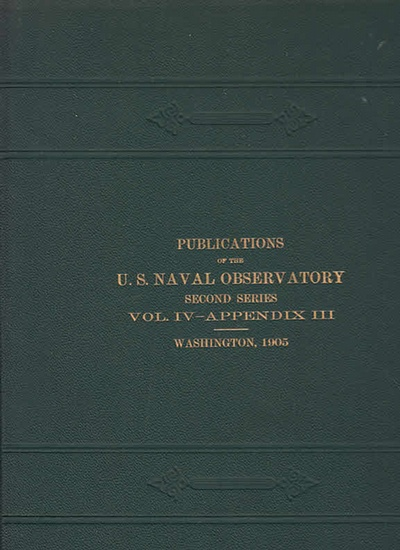 Frederick, C.W.: Reduction Tables for Equatorial Observations. (= Publications of the Unites States Naval Obeservatory, Second Series, Volume IV - Appendix III). 0