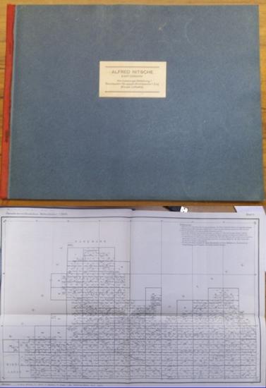 Königliche Landesaufnahme. - Bibliographie der Kartenwerke - Enthält A. Verzeichnis der von der Königlichen Landesaufnahme herausgegebenen und dem öffentlichen Vertrieb übergebenen Karten und Pläne mit Preisangaben. Aufgeführt werden I. Hauptkartenwerk... 0