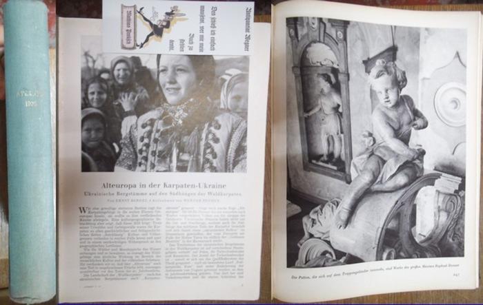 Atlantis. - Hürlimann, Martin (Hg.): Atlantis. Länder - Völker - Reisen. Jahrgang X (1938). 0