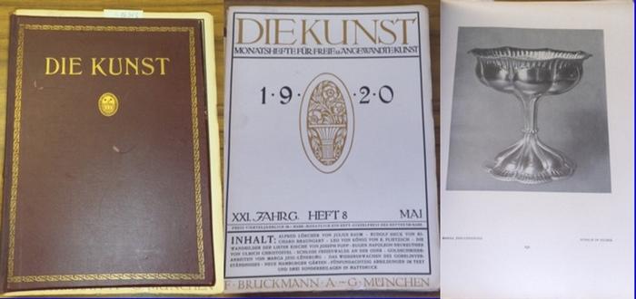 Kunst, Die. - P. Kirchgraber (verantw. Hrsg.): Die Kunst. Monatshefte für freie und angewandte Kunst. XXI. Jahrgang 1920 mit den Heften 8 (Mai 1920) bis 12 (September 1920). Es fehlt Heft 7 (April 1920). 0
