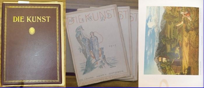 Kunst, Die. - P. Kirchgraber (verantw. Hrsg.): Die Kunst. Monatshefte für freie und angewandte Kunst. XXI. Jahrgang mit den Heften 1 (Oktober 1919) bis 6 (März 1920) / Kunst für alle XXXV / Dekorative Kunst XXIII.