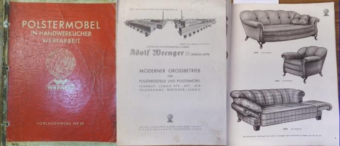 Wrenger. - Polstermöbel. - Adolf Wrenger GmbH. Lemgo-Lippe. Polstermöbel in handwerklicher Wertarbeit. Vorlagenwerk Nr. 22. 0