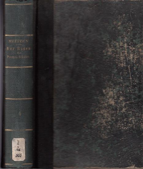 Meitzen, August: Der Boden und die landwirthschaftlichen Verhältnisse des Preussischen Staates. (4.) Vierter Band, Anlagen, separat. Nach dem Gebietsumfange vor 1866. 0