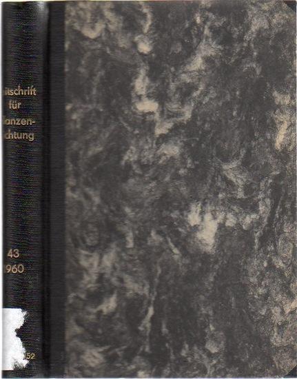 Zeitschrift für Pflanzenzüchtung. - Fruwirth, C. (Begründer) // Akerberg, E.; Kappert, H.; Kuckuck, H.; Rudorf, W.; Stubbe, H.; Tschermak, E.v. (Herausgeber): Zeitschrift für Pflanzenzüchtung. Band 43 (Dreiundvierzigster Band), 1960. Komplett in 4 Heft...