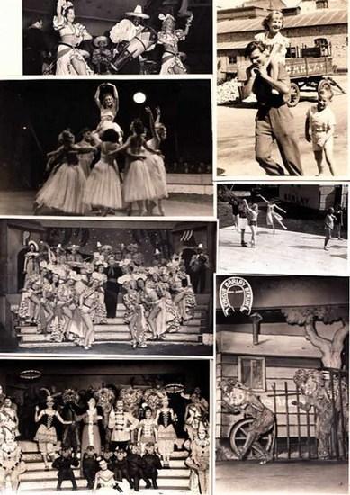 Barlay, Cirkus in Berlin. Leher, Karl ; Siewert, G.M. ; Mührer (Fotografen): Originalfotografien verschiedener Fotografen mit Motiven aus dem Cirkus Barlay Berlin. Konvolut von 24 Photografien. 0