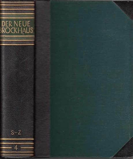Brockhaus: Der Neue Brockhaus. Allbuch in vier Bänden und einem Atlas. Vierter Band separat: S-Z. 0